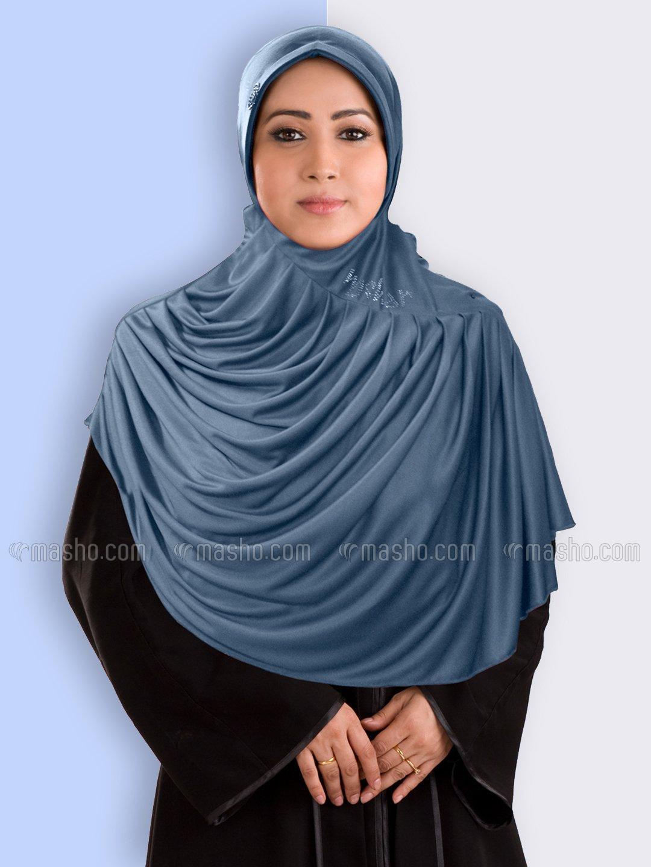 Fareezah Ready to wear Modest Hijab In Grey