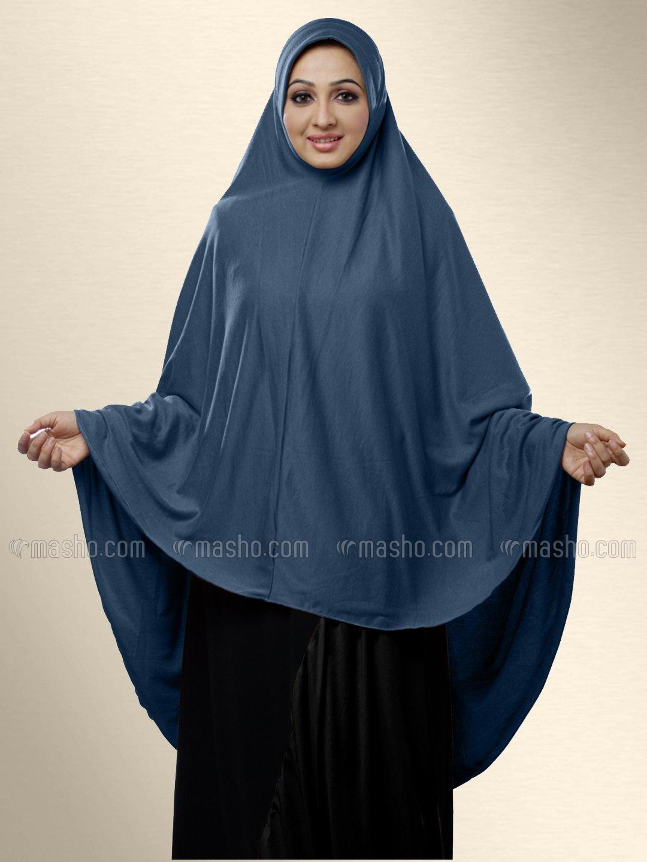 Zakia Ready to wear long, covering hijab In Grey