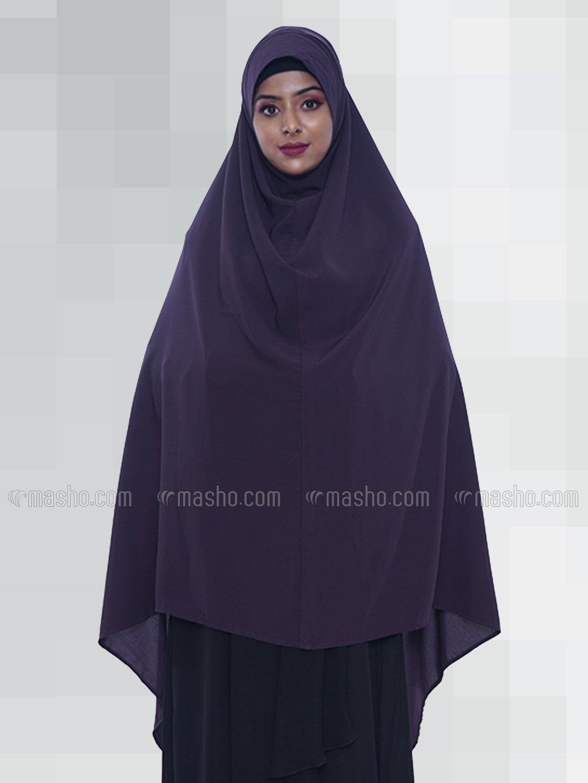 Salafi Plain BSY Instant Hijab in Dark Purple