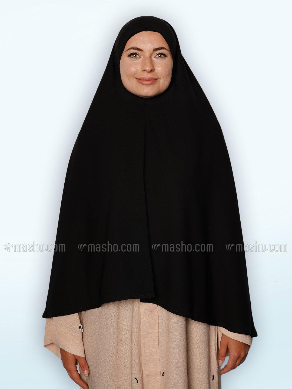 Salafi Plain Nida Matte Instant Hijab In Black