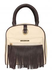 Lapis O Lupo Synthetic Grace Art Women Backpack - Offwhite