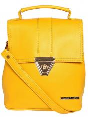 Lapis O Lupo Synthetic  Candy Women Backpack - Yellow