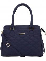 Lapis O Lupo  Synthetic Quilt Women Handbag -Blue