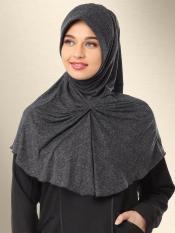 Mehar Azeeza Ready to wear modest hijab In Black