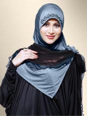 Mehar Zenora Ready to wear Instant hijab In Grey