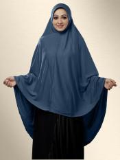 Mehar Zakia Ready to wear long, covering hijab In Grey
