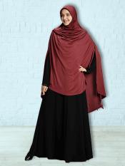 Ulema DD Soft Drip Drop Fabric Khimar In Maroon