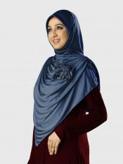 Anarkali Xtra Soft Knitted Icra Instant Hijab in Grey