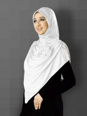 Anarkali Xtra Soft Knitted Icra Instant Hijab in White