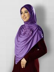 Anarkali Xtra Soft Knitted Icra Instant Hijab in Violet