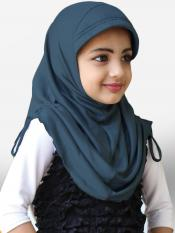 Little Heena Soft Knitted Icra Fabric Hijab In Grey