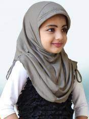 Little Heena Soft Knitted Icra Fabric Hijab In Bronze