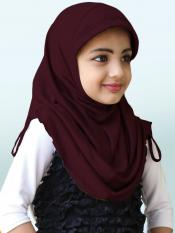Little Heena Soft Knitted Icra Fabric Hijab In Wildberry