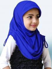 Little Heena Soft Knitted Icra Fabric Hijab In Royal Blue