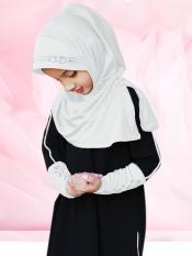 Little Riya Soft Knitted Icra Fabric Hijab In White