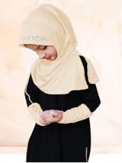 Little Riya Soft Knitted Icra Fabric Hijab In Wheat