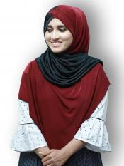 Turban Soft Knitted Icra Double Shaded Instant Hijab Image