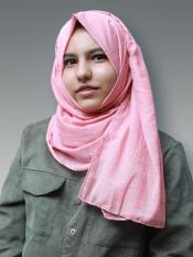 Cotton Mix Stoles With Golden Dots In Dusty Rose