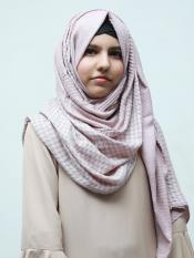 Cotton Mix Double Shade Check Stole In Careys And Ash