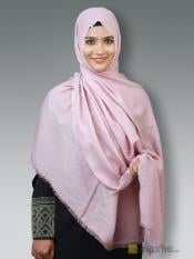 Soft Poly Mix Plain Stole In Puse Pink