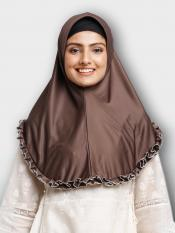 Faiqa Instant Hijabs In Dark Brown