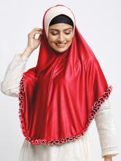 Erina Instant Hijabs In Red And Beige