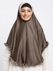 Erina Instant Hijabs In Dark Brown And Beige