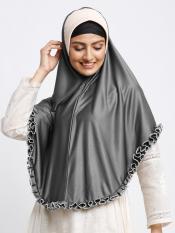 Erina Instant Hijabs In Grey And Beige