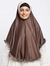 Erina Instant Hijabs In Coffee And Beige