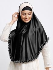 Erina Instant Hijabs In Black And Beige
