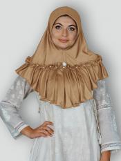 Aaima Instant Hijabs In Dark Beige