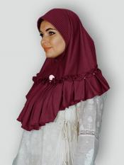 Aaima Instant Hijabs In Maroon