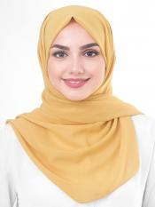 Poly Georgette Scarf In Beige
