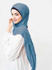 100% Viscose Jersey Scarf In Wild Ginger Blue
