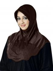 Meharban Lycra Instant Hijab In Cocco