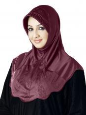 Meharban Lycra Instant Hijab In Coffee