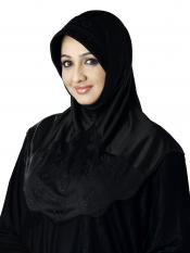 Meharban Lycra Instant Hijab In Black