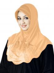 Meharban Lycra Instant Hijab In Skin