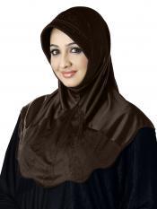 Meharban Lycra Instant Hijab In Formal Grey