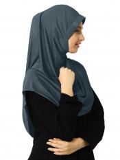 Zooni  Lycra Instant Hijab In Grey