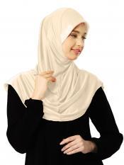 Zooni  Lycra Instant Hijab In Beige