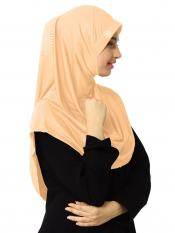 Zooni  Lycra Instant Hijab In Skin