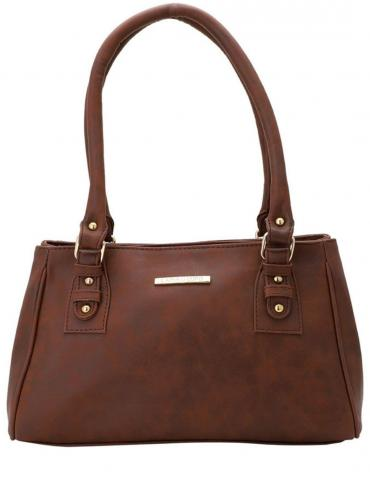 Women Synthetic  Handbag -  Brown