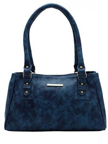 Women Synthetic Handbag - Blue
