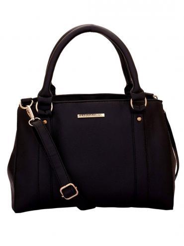 Blanche Women Synthetic Handbag - Black