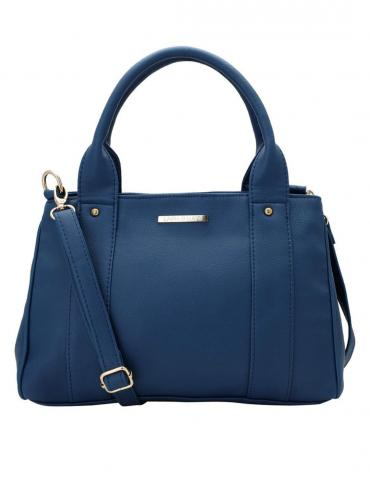Beryl Synthetic Women Handbag - Navy Blue