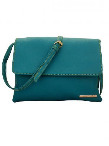 Celeste Women Synthetic Sling Bag - Turquoise