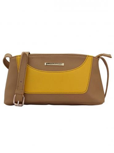 Loblolly Women Synthetic Sling Bag - Beige