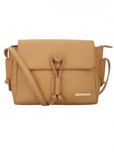Dutch Women Synthetic Sling Bag - Beige