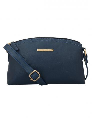 Blu Women Synthetic Sling Bag - Blue